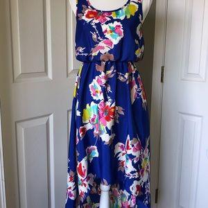 Xhilaration high | low tropical floral dress